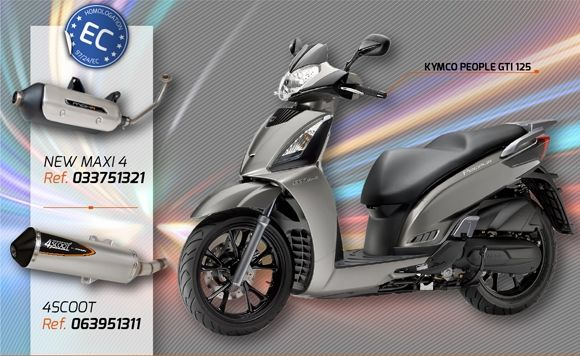 Nuevos 4SCOOT y NEW MAXI 4 para Kymco People GTI 125